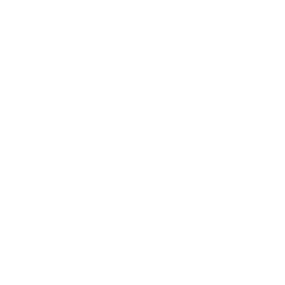 White biodegradable icon of 3 arrows going in a circle
